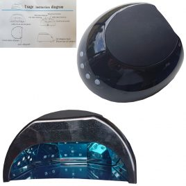 Dual Led/UV Dome Lamp with Removable Magnetic Tray