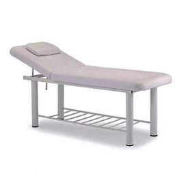 Massage Couch (Metal frame with white PU leather finish)