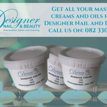 Get all your massage creams and oils from Designer Nail and Beauty.