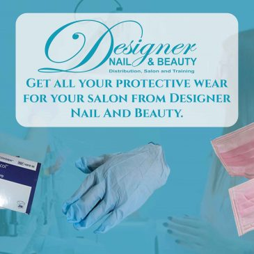 Designer Nail and Beauty stock a wide range of protective wear ranging from gloves and alcohol wipes all the way to face masks and more…