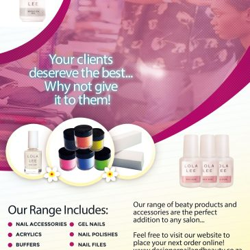 Your clients deserve the best Nail and Beauty Products available.
